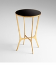 Floyd Iron Glass Top Table by Cyan Design