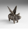 Flying Pig Iron Sculpture by Cyan Design