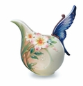 "Franz Collection ""Fluttering Beauty"" Flower and Butterfly Porcelain Creamer"