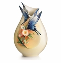Franz Collection Fluttering Beauty Flower and Butterfly Small Vase