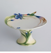 Franz Collection Hummingbird Pedestal Cake Plate