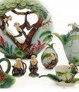 Franz Collection Jungle Fun Monkey Design Porcelain Collection