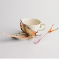 "Franz Collection Papillon Cup, Saucer & Spoon Set ""Fantasy"""
