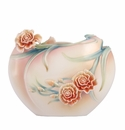 Franz Collection Porcelain Carnation Flat Vase