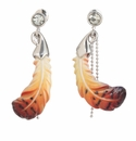 Franz Collection Porcelain Feather Earrings