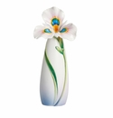 Franz Collection Porcelain Peacock Iris Small Vase