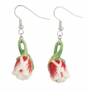 Franz Collection Porcelain Tulip Earrings