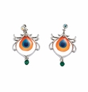Franz Collection Proud Peacock Earrings