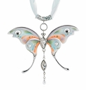 Franz Collection Sculptured Porcelain Butterfly Necklace