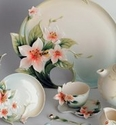 Franz Porcelain Bee & Apple Blossom Collection
