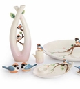 Franz Porcelain Black Throated Passerine Collection