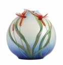 Franz Porcelain Free Spirit - Red Dragonfly Vase