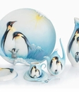 Franz Porcelain Playful Penguins Collection