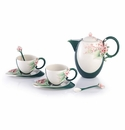 Franz Porcelain Shining Hope Lilac Teapot/Cup/Saucer/Spoon Set