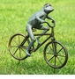 Frog on Bicycle Garden Sculpture by SPI Home