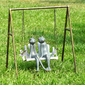 Frogs on Porch Swing Garden Sculpture by SPI Home