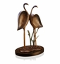 Gallery Brass and Marble Romantic Crane Couple Sculpture by SPI Home