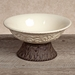 GG Collection Gracious Goods Cream Bowl with Metal Pedestal