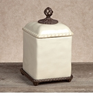 GG Collection Gracious Goods Medium Barcelona Cream Canister with Metal Base