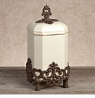 GG Collection Gracious Goods Medium Provencial Canister with Metal Base