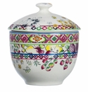 Gien Bagatelle Sugar Bowl