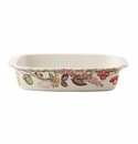 Gien Bouquet Floral Rectangular Baker Small