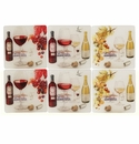 Gien Bouquet Wine Acrylic Coasters Set of 6