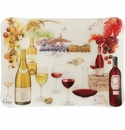 Gien Bouquet Wine Acrylic Serving Tray Small