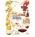 Gien Bouquet Wine Tea Towel