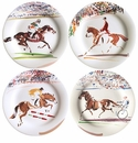 Gien Cavaliers Assorted Dessert Plates Set of 4