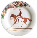 Gien Cavaliers Canape Plates Dressage Set of 4