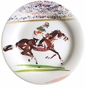 Gien Cavaliers Canape Plates Race Set of 4