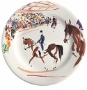 Gien Cavaliers Dessert Plates Dressage Set of 4