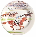 Gien Cavaliers Dessert Plates Race Set of 4