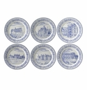 Gien Chateaux De La Loire Assorted Bottle Coasters Set of 6