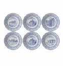 Gien Chateaux De La Loire Assorted Dessert Plates Set of 6
