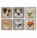 Gien Darling Dog Acrylic Coasters Set of 6