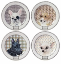 Gien Darling Dog Assorted Canape Plates