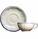 Gien Filet Bleu Breakfast Cup & Saucer