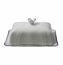 Gien Filet Bleu Butter Dish