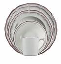 Gien Filet Raspberry 4 Piece Dinnerware Placesetting