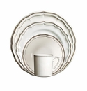 Gien Filet Taupe 4 Piece Dinnerware Placesetting