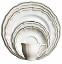 Gien Filet Taupe 5 Piece Dinnerware Placesetting