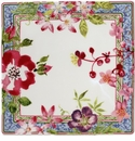 Gien Millefleurs Square Plate Small