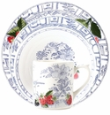 Gien Oiseau Blue Fruits 4 Piece Dinnerware Placesetting