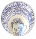 Gien Oiseau Blue & White 4 Piece Dinnerware Placesetting