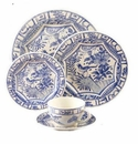 Gien Oiseau Blue & White 5 Piece Dinnerware Placesetting