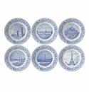 Gien Paris Monuments Assorted Bottle Coasters Set of 6