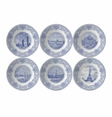 Gien Paris Monuments Assorted Dessert Plates Set of 6