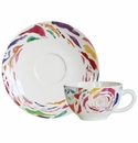 Gien Passion Breakfast Cup & Saucer